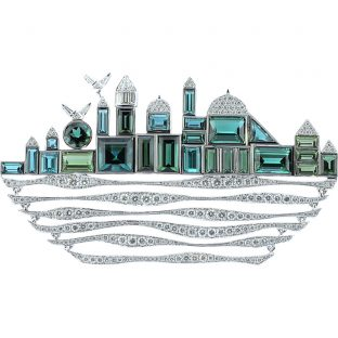 Istanbul Silhouette Brooch